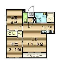 シャルル227[4階]の間取り