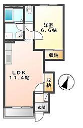 ジュンファーム[1階]の間取り