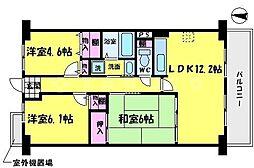 エスタシオン野江 5階3LDKの間取り