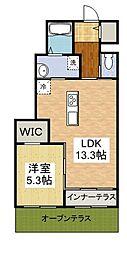 プランドール ユー[1階]の間取り