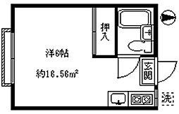 アーバンエミ[203号室]の間取り