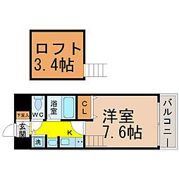 プレサンス名古屋駅前アクシス[202号室]の間取り