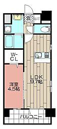 CLUB博多駅南レジデンス[903号室]の間取り