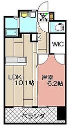 フェルト1113[3階]の間取り