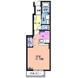 ミルテシェレ A[1階]の間取り