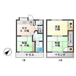グリーンハイツ257A棟[1階]の間取り