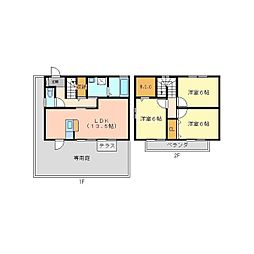 [テラスハウス] 兵庫県尼崎市武庫町3丁目 の賃貸【/】の間取り