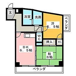 ランドウォーカー[4階]の間取り