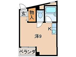 ピュア紀三井寺[5階]の間取り