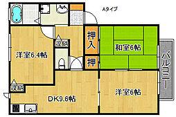 フォレストいずみA棟B棟[1階]の間取り
