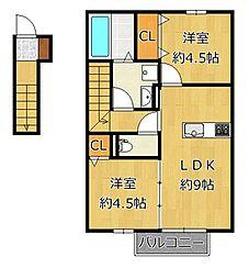 プレミールNakamaV[2階]の間取り