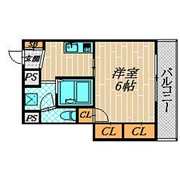 デザイナーズ8マンション[400号室]の間取り