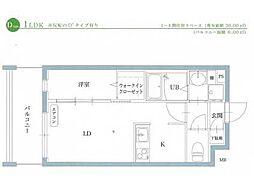 リアンレガーロ井尻ステーションII[206号室]の間取り