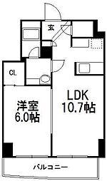 北海道札幌市中央区南六条西11丁目の賃貸マンションの間取り