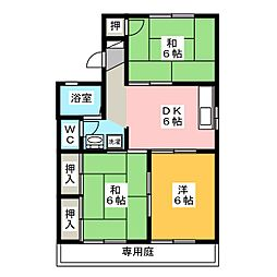 コスメティックスオオフク A棟[2階]の間取り