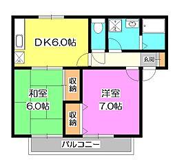 クープルマーリエ[1階]の間取り