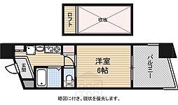エステムコート大阪・中之島南[6階]の間取り