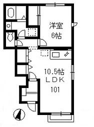 アンサンブル・コート[B101号室号室]の間取り