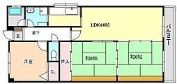 レユシール谷村三番館[3階]の間取り