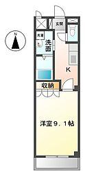 愛知県一宮市伝法寺2丁目の賃貸アパートの間取り