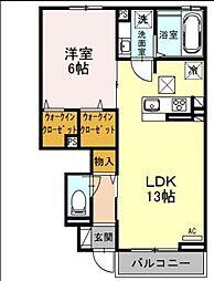 (仮称)D-room湘南台2丁目[1階]の間取り