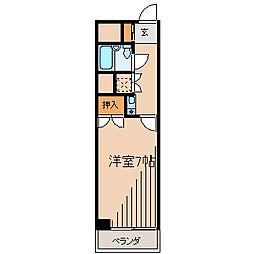 シングルハイツ相模大野[5階]の間取り
