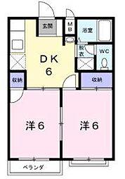 シティーハイツイノウエA[2階]の間取り