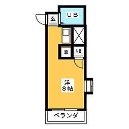 ミリアン稲沢駅前[3階]の間取り