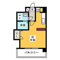 ピュアドームステイツ博多[8階]の間取り