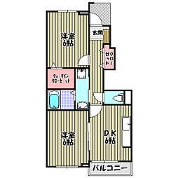 サンフェリスタI[1階]の間取り