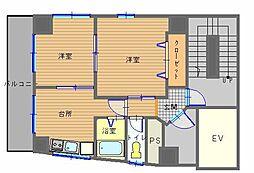MIYAKOビル[6階]の間取り