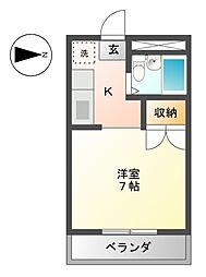 OMレジデンス西岐阜[2階]の間取り