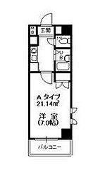 東京都江戸川区東葛西7丁目の賃貸マンションの間取り