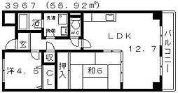 プライムヒル藤井寺[103号室号室]の間取り