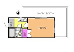 サンハイツ洗足[4階]の間取り
