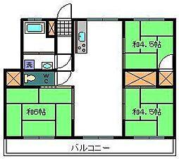 黒川第1マンション[203号室]の間取り