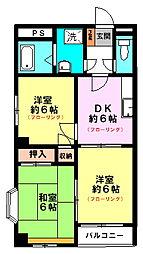 コンドミニアム八王子(4F角)[4階]の間取り