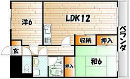 苅田鳳城ビル[3階]の間取り