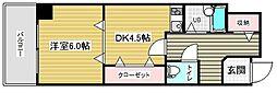 スタッツア神戸[8階]の間取り