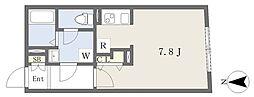 MTM東別院 3階1Kの間取り