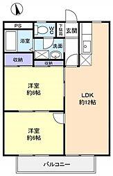 シティハイツ稲垣[2階]の間取り