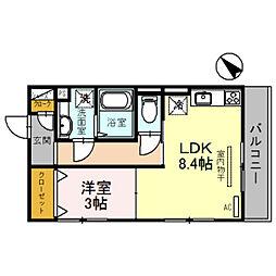 仮)D-room 亀山KY[306号室]の間取り