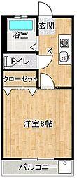 JR徳島線 府中駅 徒歩26分の賃貸アパート 1階1Kの間取り