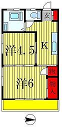 コーポナトリ[3階]の間取り