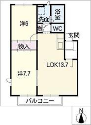ソリアードTM B棟[2階]の間取り