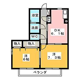 グリーンハイツJIKE A[1階]の間取り