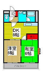 T&S司ハイム南浦和[2階]の間取り