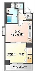 シーナリ江坂[7階]の間取り