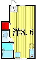 メゾンドソレイユ柴又[1階]の間取り