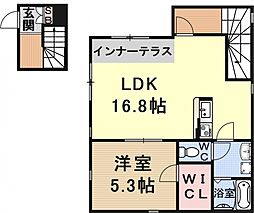 Casa comoda(カーサコモダ)[202号室号室]の間取り